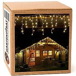 24,0 m Eisregen Lichterkette mit 960 LED warmweiß für aussen und innen