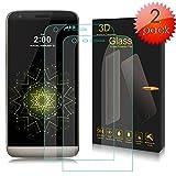 LG G5 Pellicola Vetro Temperato Screen Protector, YUDA Tech Pellicola in Vetro Pellicola Protettiva Bordi Arrotondati da 3D Anti-riflesso, Anti-Bolla,Durezza 9H Ultra Resistenze per LG G5 (2 Pack) - Trasparente