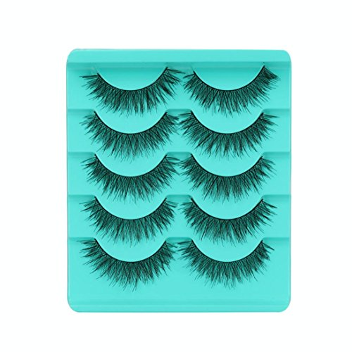 LuckyGirls 2018 Heiß! 5 Paar Falsche Wimpern Kreuz Natürliche Lange Augen Wimpern Make-up Voluminöse Eye Lashes (one Size, D)