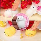 Stress Reliever Toys,Kingwo Cute A Set Cat And Pillow Mochi Squishy Squeezen Healing Kids Toy Stress Reliever Fun Joke Gift (I)
