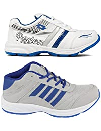 Redon Men's Pack Of 2 Sports Running Shoes (Running Shoes, Jogging Shoes, Gym Shoes, Walking Shoes)