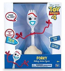 Thinkway Toys Figura Forky 23 cm. Toy Story 4. con Sonido y Movimiento. Versión inglés