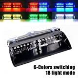 RGB 12LED High Intensity LED Gesetzeshüter Warnlicht Lichter für Innen Dach/Dash/Windschutzscheibe mit Saugnäpfen