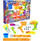 Toys Bhoomi 17 Piece Take Apart Dinosaur Robot Electronic Drill Play Tools Toy Set For Kids Toys Adjustable Tool Belt Puzzles Games With Sounds And Lights (661-351)