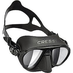 Cressi Sub S.p.A. Calibro Masque de Plongée Mixte Adulte, Noir/Lentille de Miroir