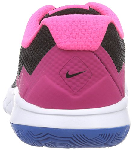 Nike Unisex-Kinder Flex Experience 4 (Gs) Laufschuhe Schwarz (Black/Volt/Pink Pow/White 007)