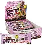Ultra Energy Acai Bar - Chocolate berry (60g x 6 bars)