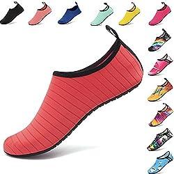AGOLOD Zapatos Playa Yoga Deportes Acuáticos de Agua Mujer Hombre Escarpines para Surf Piscina