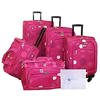 American Flyer Amato 6-Piece Spinner Set, Pink