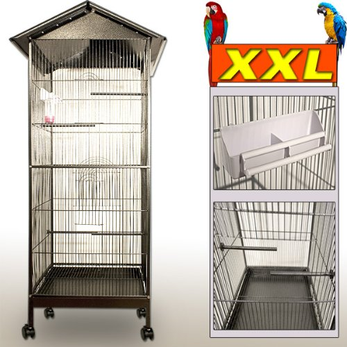 Large Bird Cage Metal Aviary Canary Parrot Birds Cage House Pet Supplies Equipment Birdcages