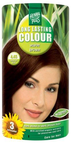 Hennaplus Long Lasting Colour Warm brown 4.45 - 100 ml -