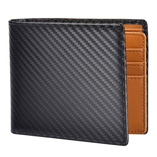 Pacrate Geldbeutel Männer Münzfach Portemonnaie Herren RFID Schutz Echtem Leder Kompakte Portemonnaie Brieftasche Männer Geschenk