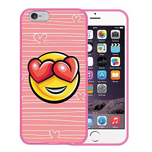iPhone 6 6S Hülle, WoowCase Handyhülle Silikon für [ iPhone 6 6S ] Coloriertes Graffiti Handytasche Handy Cover Case Schutzhülle Flexible TPU - Schwarz Housse Gel iPhone 6 6S Rosa D0396