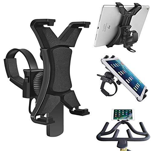 iPad supporto per spin Bike, tapis roulant iPad supporto universale per interni per attrezzi da palestra cyclette, regolabile 360° girevole iPad Excerise bici per 7-30,5cm tablet e iPad