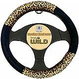 Simply LSWC01 Funda para volante, estampado de leopardo