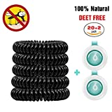 Picture Of Mosquito Repellent, Binwo Pack of 20+2 Indoor Outdoor Insect Repellent Bracelet Pest Control Sports Bracelet with up to 200 Hours' Protection, Natural Safe and DEET-FREE, Waterproof Wrist / Ankle Bands for Kids & Adults