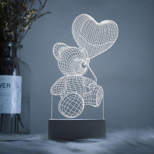 YLSMN 3D nuit lumière acrylique personnalisé LOGO lampe de table net rouge étudiant commencer festival des enseignants de l'école Festival de la mi-automne cadeaux créatifs veilleuse