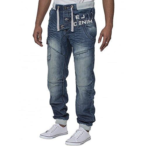 Eto - Jeans - Homme Bleu Distressed Blue Bleu - Distressed Blue
