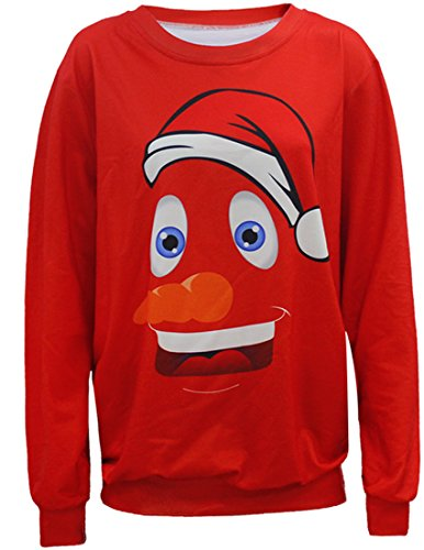 Belsen Femme Noël Sweat-shirts pull-over T-shirt clown