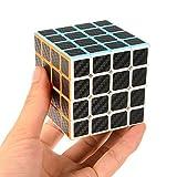 Twister.CK 4x4x4-Geschwindigkeits-Würfel mit Carbon-Faser-Aufkleber, Smooth Magic Cube Puzzle in der klaren Farben Denksportaufgaben für Cube-Enthusiasten, Kinder Geschenk für Intelligence Development