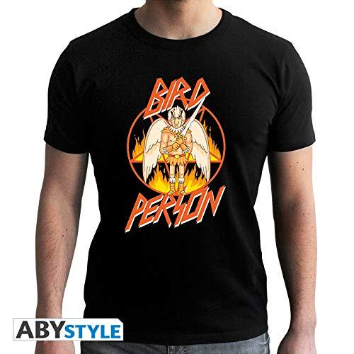 ABYstyle - Camiseta de Manga Corta para Hombre (Talla XL), diseño de pájaros, Color Negro