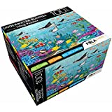 Pola Puzzles Underwater Buddies Tiling Puzzles 100 Pieces For Kids Age 5 Years And Above Multi Color Size 36CM X 34CM Jigsaw Puzzles For Kids