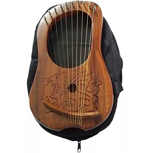 Marke New Lyra Harfe Gravur Keltischer Walisischer Drache/Lyra Harfe Sheesham Holz Dragon