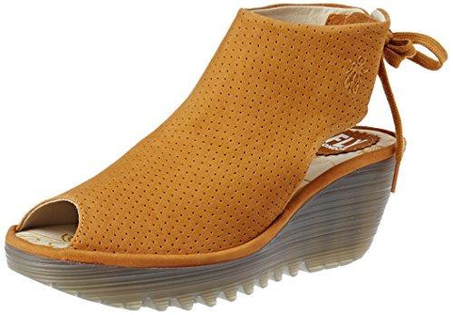 Sandalias amarillas de Punta Descubierta para Mujer