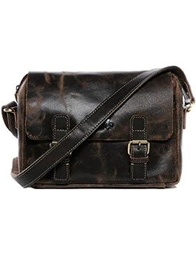 [Gesponsert]SID & VAIN® Messenger bag YALE - Herren Umhängetasche groß Ledertasche - Laptoptasche im Vintage-Look Herrentasche...