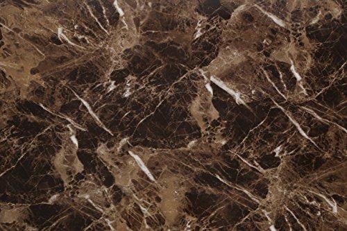 (Paket von 3) Mattes Granit-/Marmor Wandbild selbstklebend und leicht abzulösen und anzubringen - Tapete 61cm x 200cm, 0,23mm starkes, wasserdichtes PVC-Vinyl für Küche Bett Wohnzimmer Badezimmer - Marmor-matte