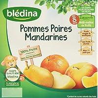 Blédina Coupelles de fruits Pommes Poires Mandarines dès 8 mois 4 x 100 g -
