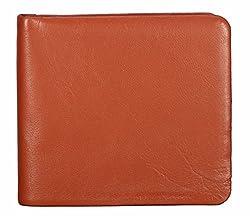 Adamis Tan Leather Bi-Fold Mens Wallet