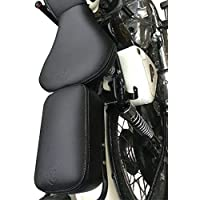 SaharaSeats Royal Enfield Cushion Seat Cover Plian for Classic 350/500 (Black)