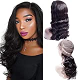 Maxine 360 Lace Wig 180% Density Body Wave Human Hair Wigs for Black Women 360 Full Lace Frontal Wigs with Baby Hair Pre Plucked Natural Hairline 8 inch