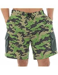 Para hombre estampado militar pantalón corto de bañador para niño
