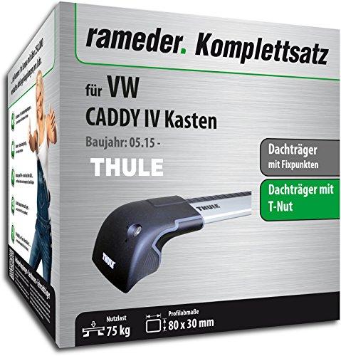 Rameder Komplettsatz, Dachträger WingBar Edge für VW CADDY IV Kasten (119126-14303-1)