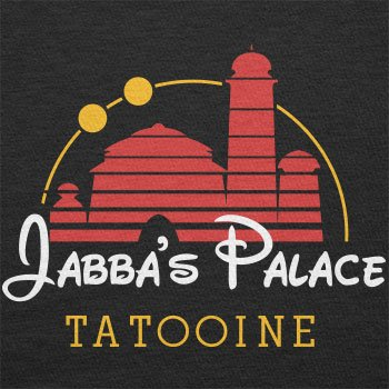 Texlab–Jabba s Palace Tatooine–sacchetto di stoffa Nero