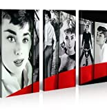 islandburner Bild Bilder auf Leinwand Audrey Hepburn Pop Art My Fair Lady XXL Poster Leinwandbild Wandbild Dekoartikel Wohnzimmer Marke