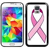 Cáncer de mama rosa Samsung Galaxy S5 cinta artesanias color negro