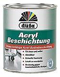 Düfa Acryl Strapazierfähige Acryl Bodenbeschidung Seidenglänzend 2,5 Liter, Farbe (RAL):RAL 7032 Kieselgrau