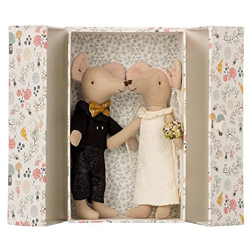 Maileg Mäuse Brautpaar in Box (Maus Gekleidet)