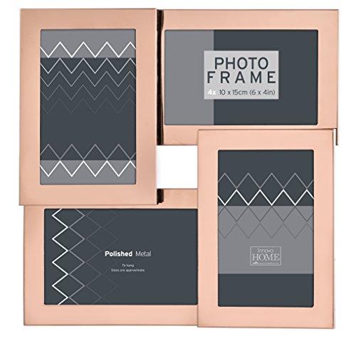 Innova pi07929Multi Metall 4Fotos 10x 15cm Edelstahl Farbe Gold Metall Rosa 30x 30x 3cm