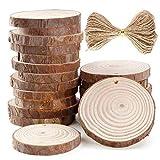 Fatalom Lot de 20 disques ronds en bois pré-percés de 6 à 7 cm pour décoration de fête d'enfant Décoration murale (A)