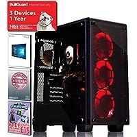 ADMI GTX 1070 GAMING PC: High-End VR Ready Gaming Desktop Computer: Intel Core i5 7400 Quad Core 3.5GHz Turbo CPU / NVIDIA GeForce GTX 1070 8GB Graphics Card / 16GB 2400MHz DDR4 RAM / 2TB Seagate Hard Drive / 600W PSU Bronze Rated / Corsair 460X Red LED Case / Windows 10