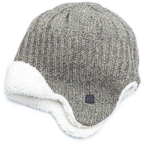 Isotoner Tote (Isotoner Herren Acryl-Hut mit abwechselndem Rippenmuster - grau - Einheitsgröße)