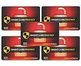 5 x Tarjetas de Bloqueo DreamTECH RFID & NFC: Seguridad antirrobo para Tarjetas de crédito/débito/DNI. Proteja su Identidad e información financiera con un Protector excepcional de diseño Ultrafino.