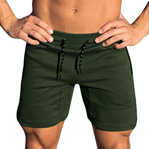 ESAILQ Mens Shorts Gym Casual Sports Jogging Elasticated Waist Pants Trousers Mens Pyjama Shorts Swimming Shorts for Men Cargo Shorts Boxer