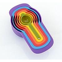 ZNYSTAR 6PCS Misurini Tazze Di Misurazione Spoon Cup colore a caso