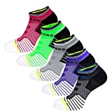 Aaronano 5 Pairs Women Half Cushioned Terry Athletic Running Socks Size (4-7 UK/35-39 EU)