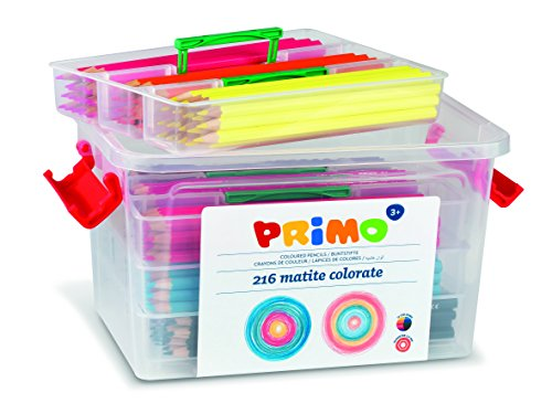 primo p507mat216 - set da 216 matite colorate